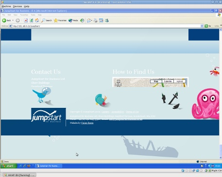 JumpStart Contact Page in IE6