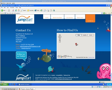 JumpStart Contact page almost fixed!