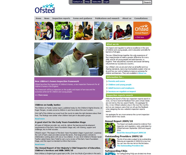 Ofsted - Office for Standards in Education Childrens Services and Skills