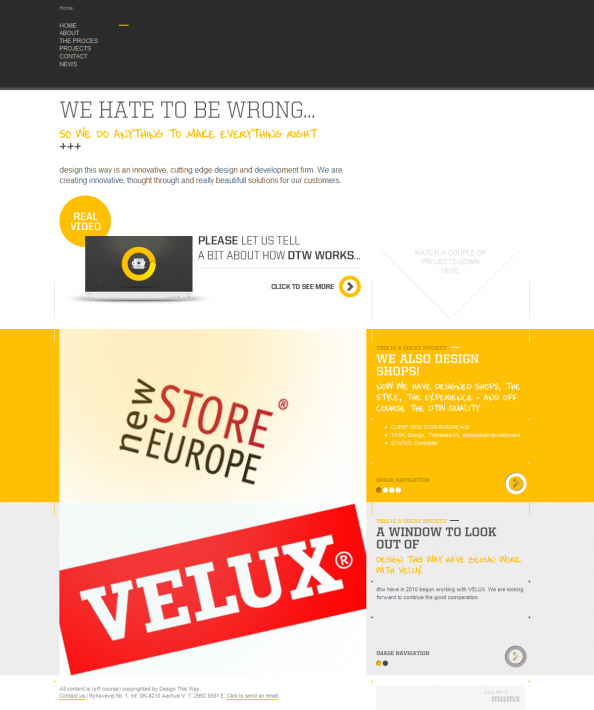Sutes That Are Yellow: 10 Fabulous Yellow Websites