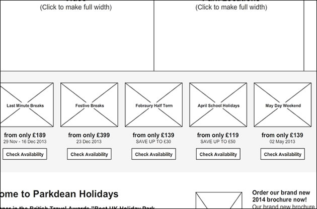 parkdean-web-design-wireframe
