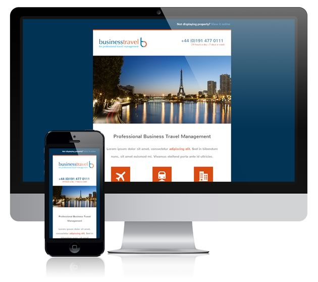 Responsive email design for Business Travel