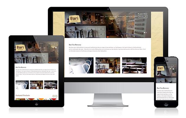 Bari Tea Brewery E-commerce Website