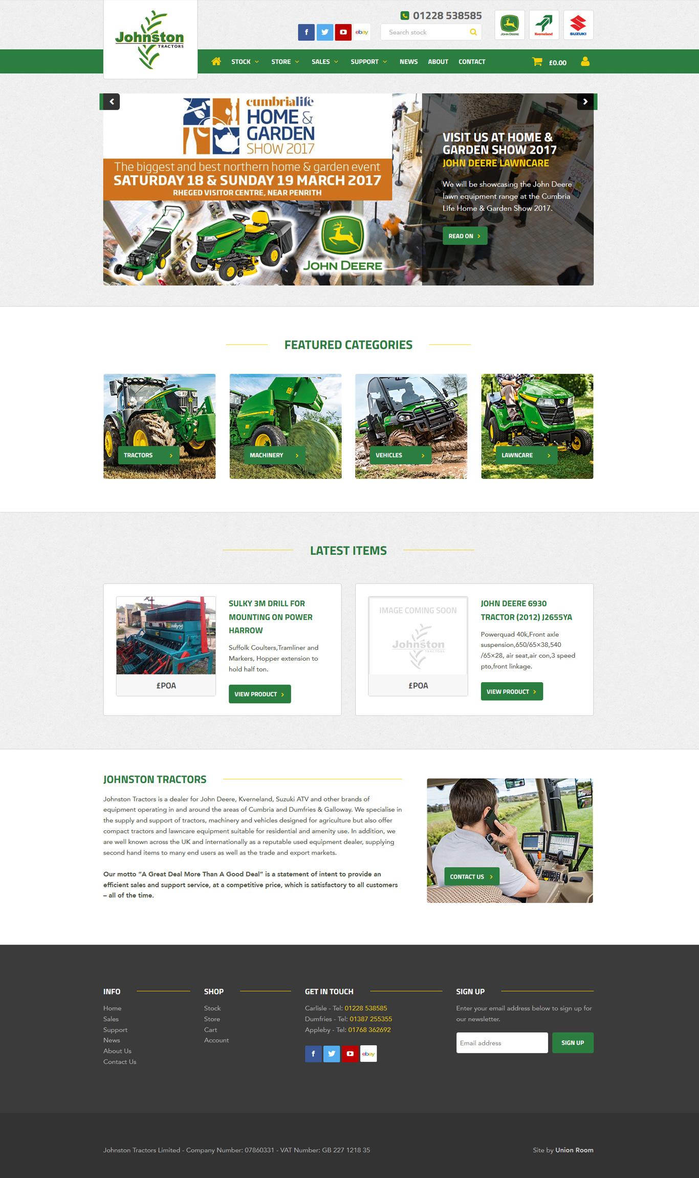 Johnston Tractors