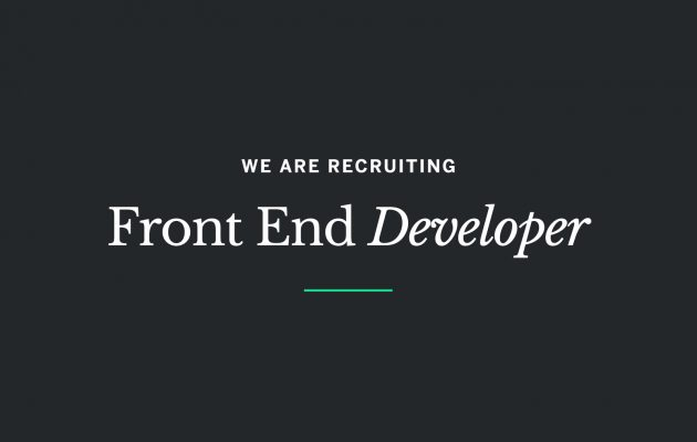 Careers at Union Room – Front End Developer *CLOSED*