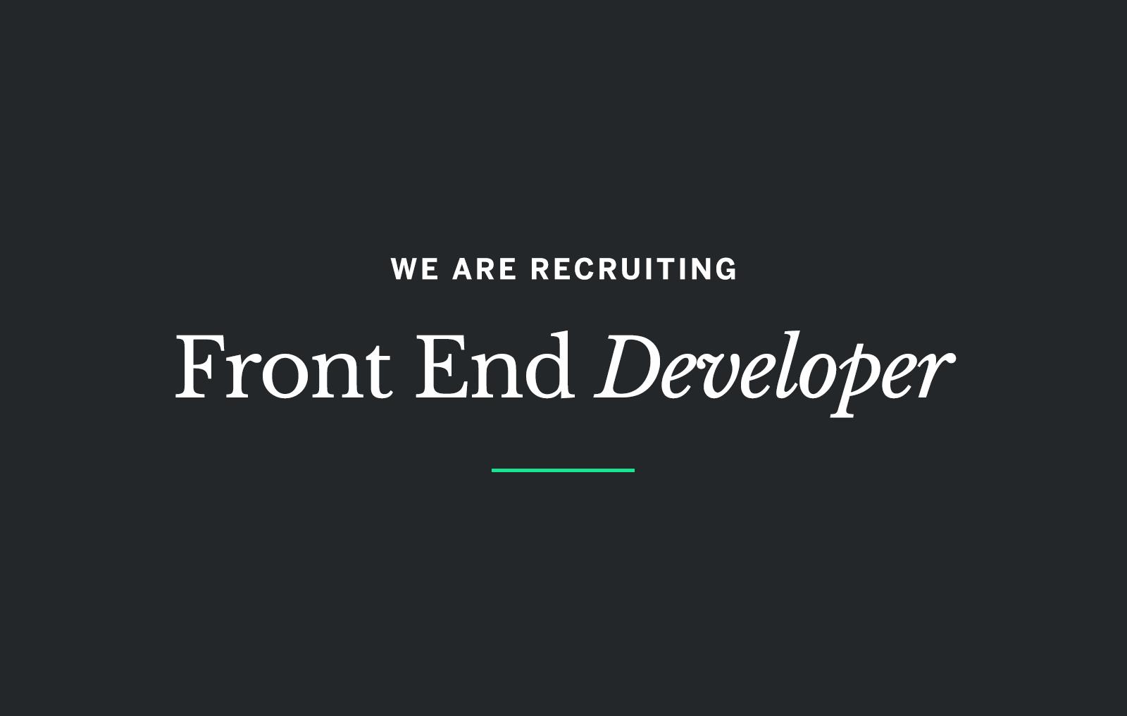 careers front end developer