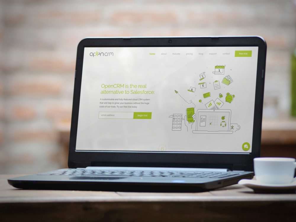 opencrm new website launch web design