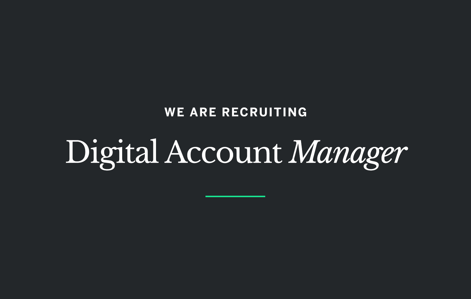 digital account manager careers