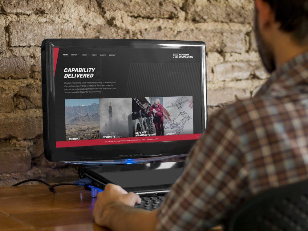 pearson engineering new website design
